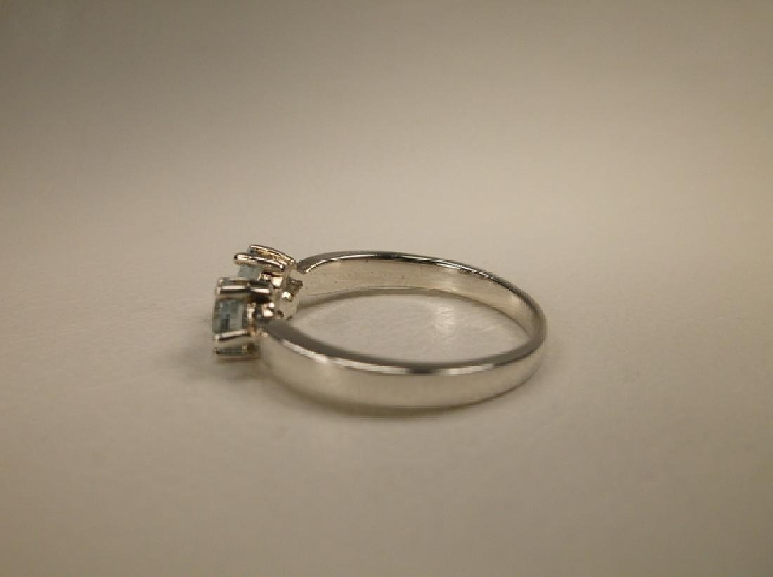 Gorgeous Sterling Silver Aquamarine Ring in Size 7.75 - 2