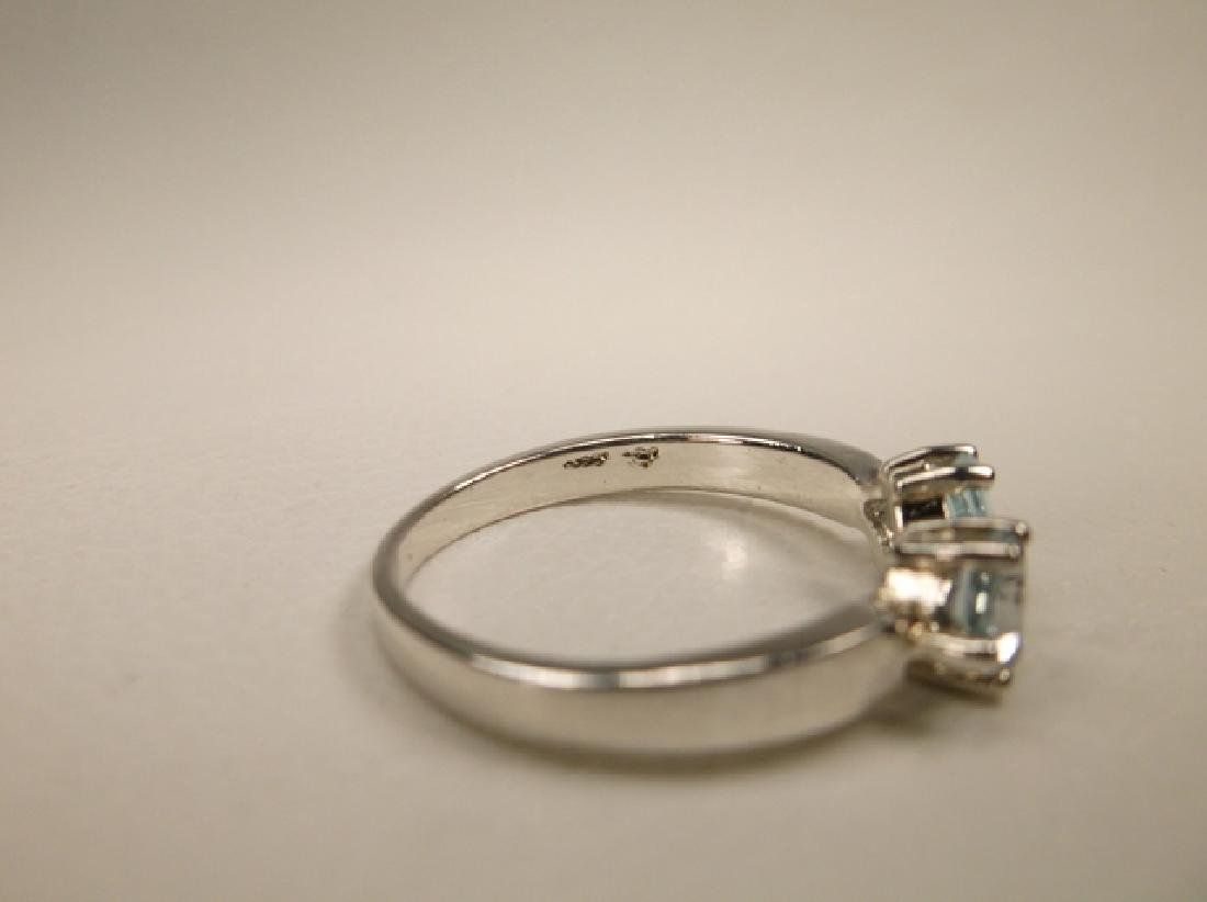 Gorgeous Sterling Silver Aquamarine Ring in Size 7.75 - 3