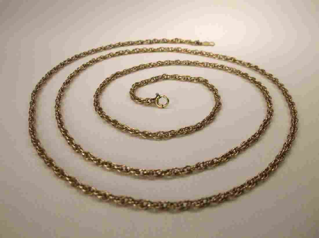 Beautiful Antique 12kt GF Rope Chain Necklace 30 Inch