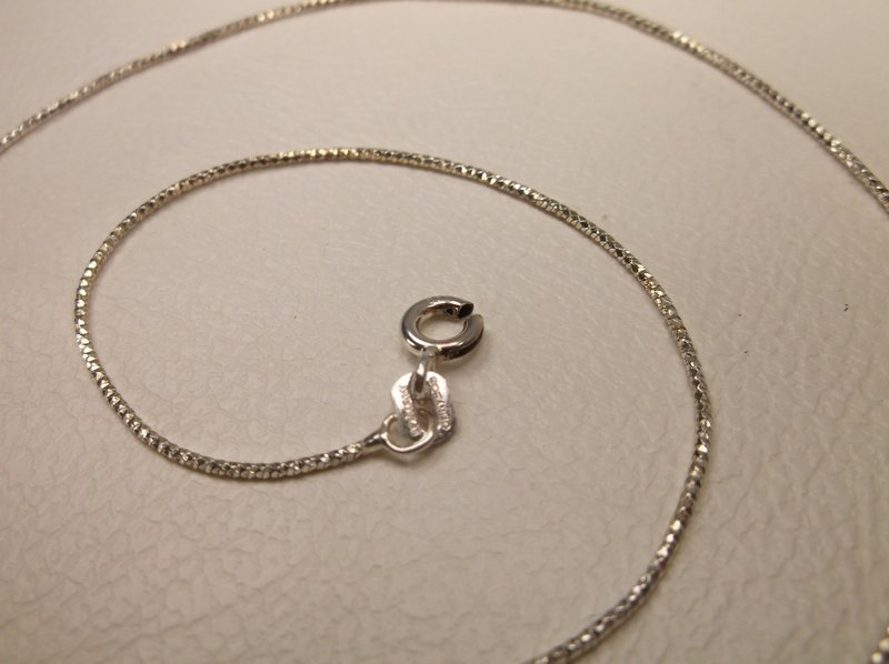 "Gorgeous Sterling Silver Sparkle Chain Necklace 16"" - 2"