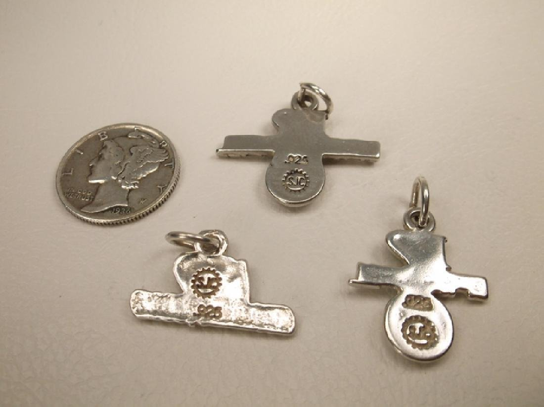 3 Gorgeous Vintage Sterling Silver Sports Charms or - 3