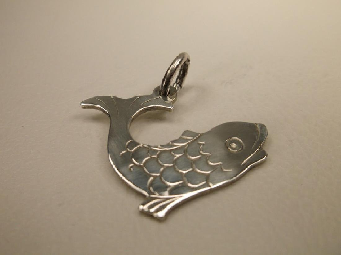 Gorgeous Sterling Silver Japanese Koi Fish Pendant