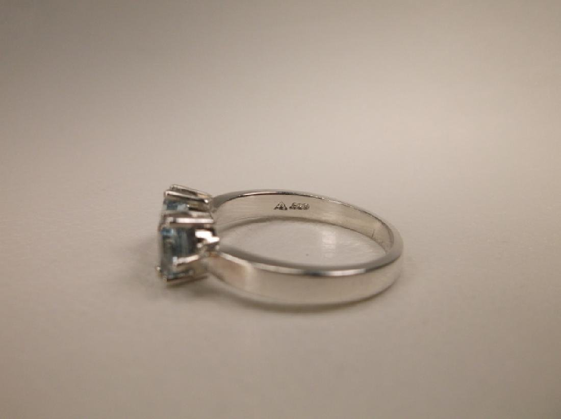 Gorgeous Sterling Silver Aquamarine Ring in Size 6.25 - 2