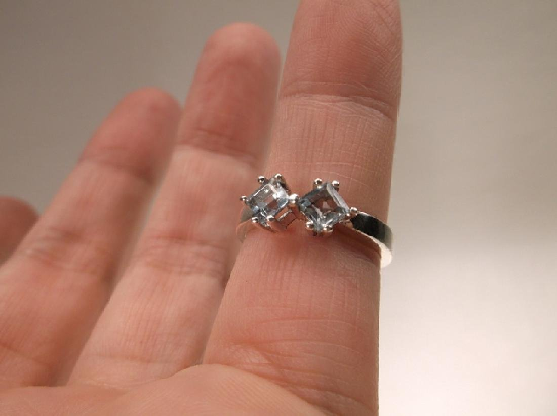 Gorgeous Sterling Silver Aquamarine Ring in Size 6.25 - 4