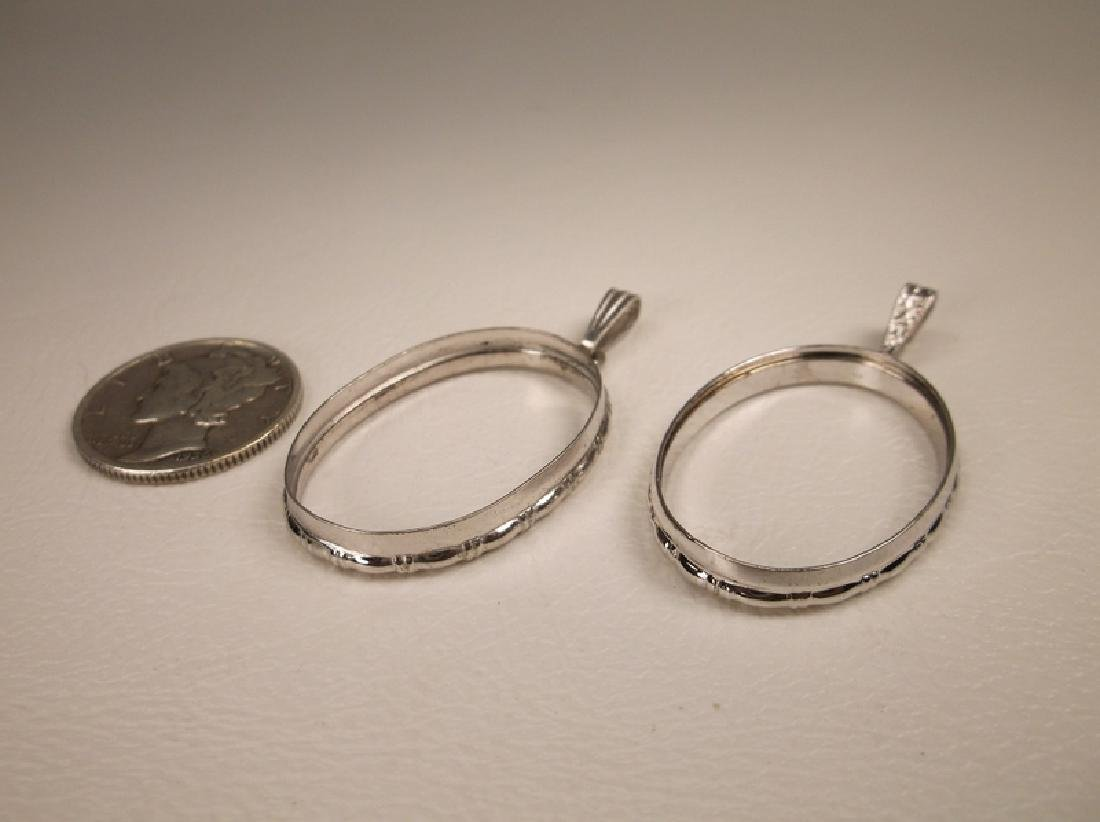 2 Gorgeous Sterling Silver Pendant Rings Holders