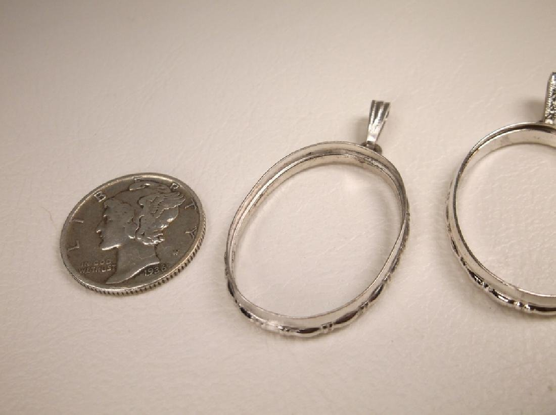 2 Gorgeous Sterling Silver Pendant Rings Holders - 2