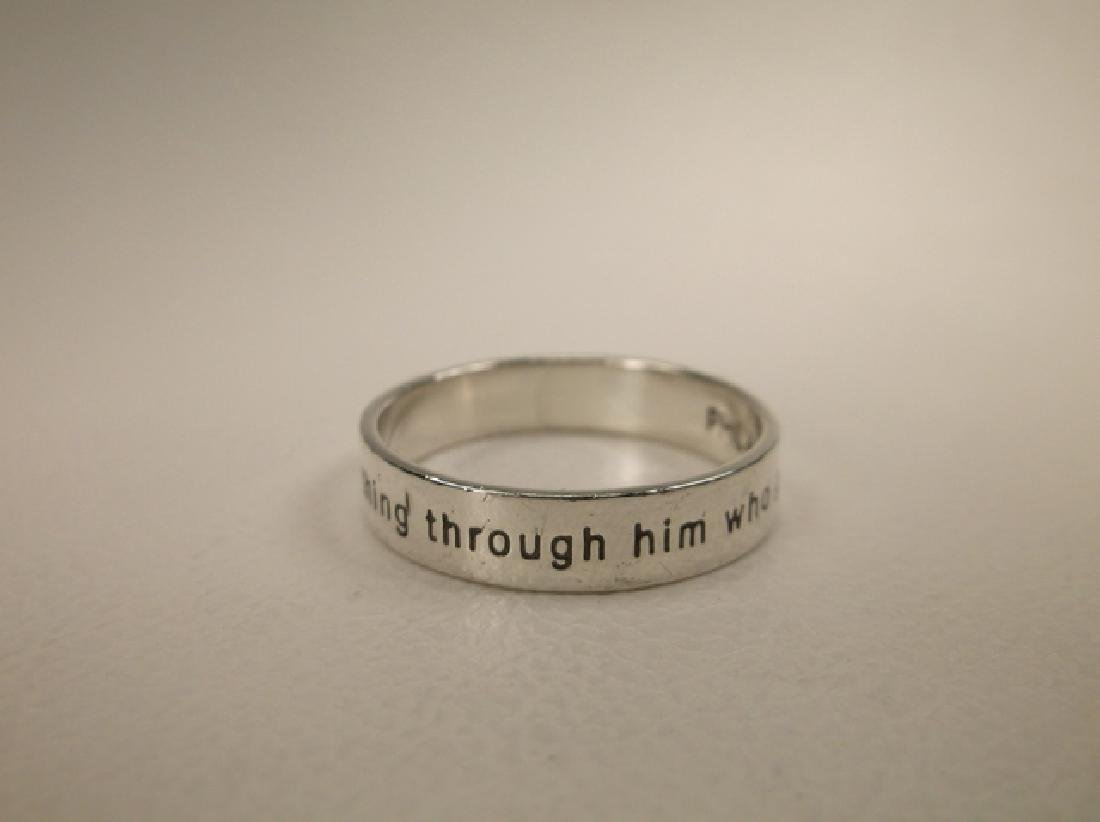 Gorgeous Sterling Phil 4:13 Mens Band Ring in Size 10