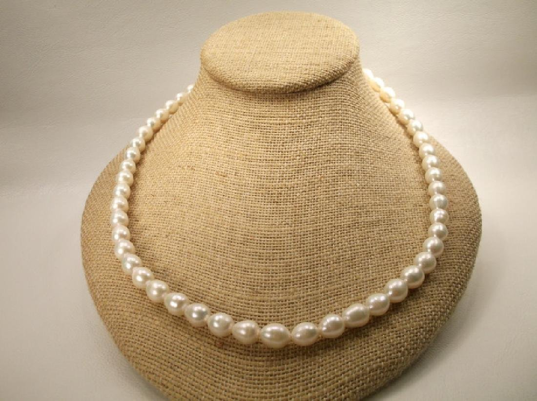 Gorgeous Sterling Silver Large Freshwater Pearl - 5