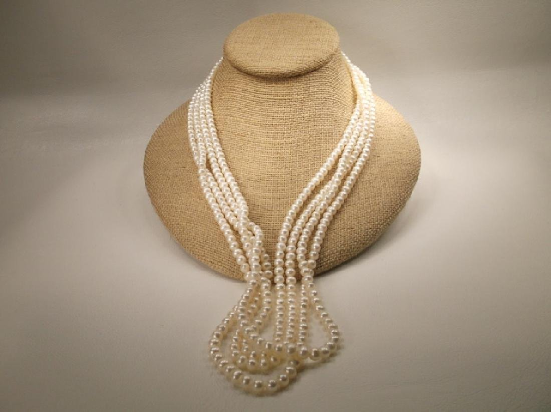 Stunning Genuine Freshwater Pearl Necklace 100 Inch