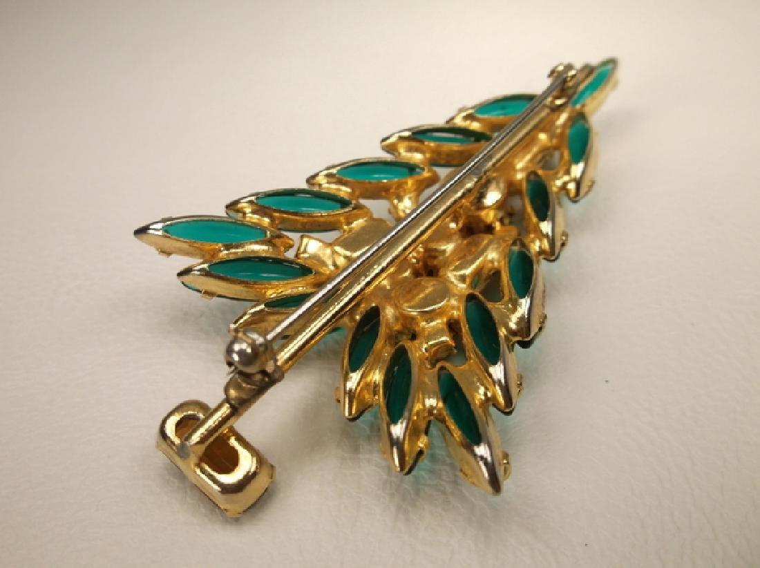 Incredible Antique Gold Tone Rhinestone Christmas Tree - 6