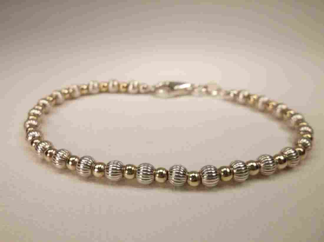 Gorgeous Thick Sterling Silver Ball Bracelet 7 Inch