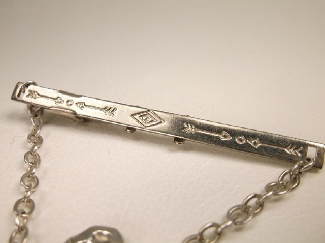 Gorgeous Vintage Bell Sterling Silver Bronco Buster Tie - 3