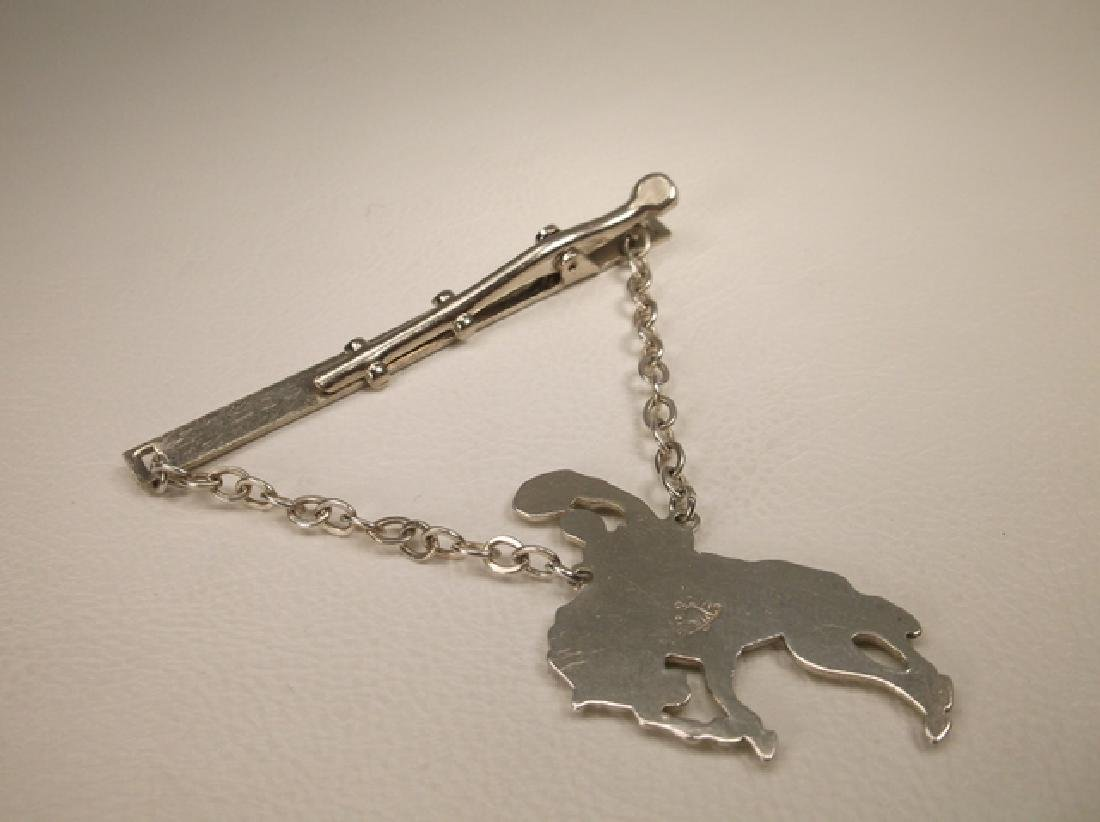 Gorgeous Vintage Bell Sterling Silver Bronco Buster Tie - 4