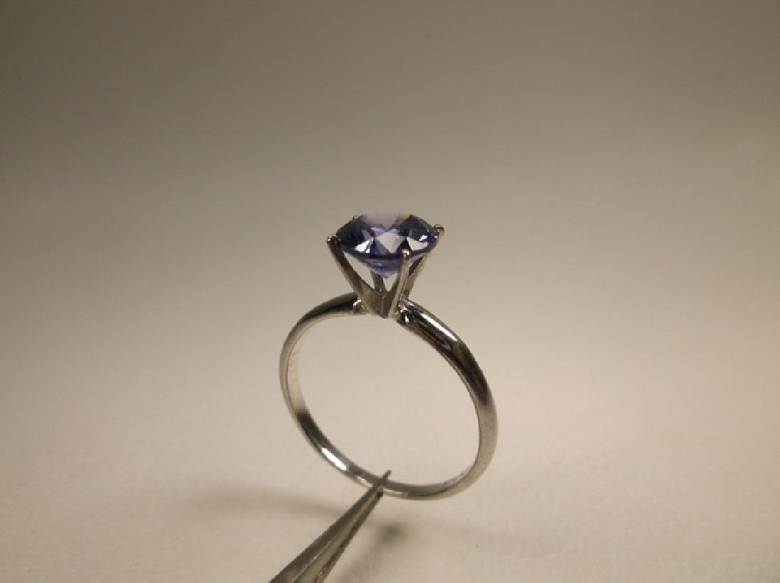 Stunning 10kt Gold Sterling Silver Tanzanite Ring Size