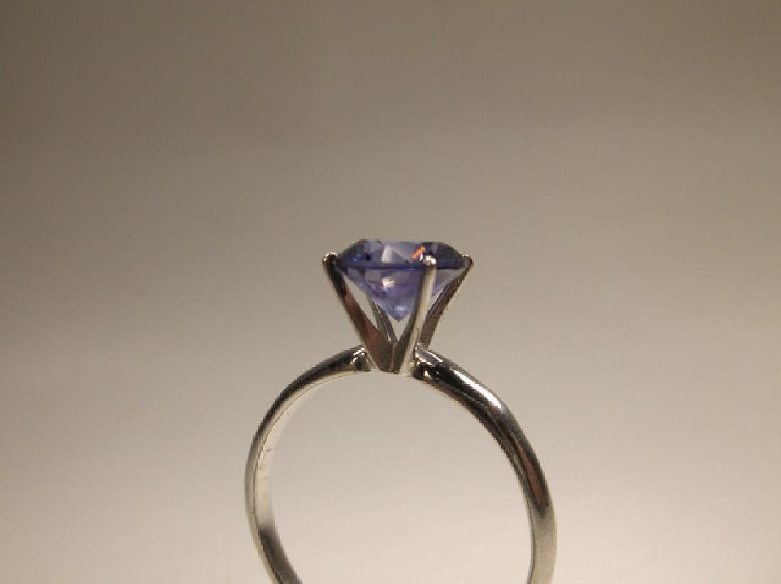 Stunning 10kt Gold Sterling Silver Tanzanite Ring Size - 3