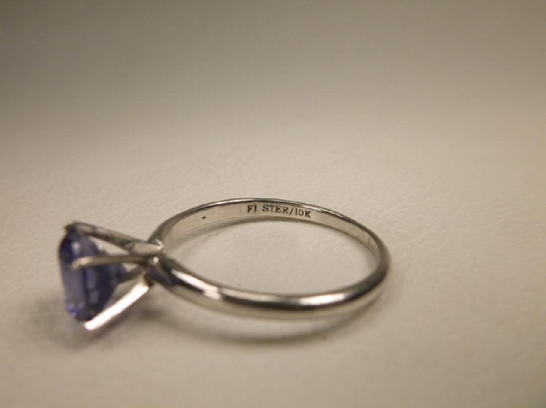 Stunning 10kt Gold Sterling Silver Tanzanite Ring Size - 4