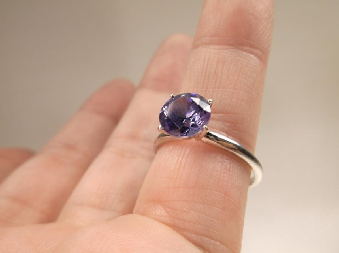 Stunning 10kt Gold Sterling Silver Tanzanite Ring Size - 5