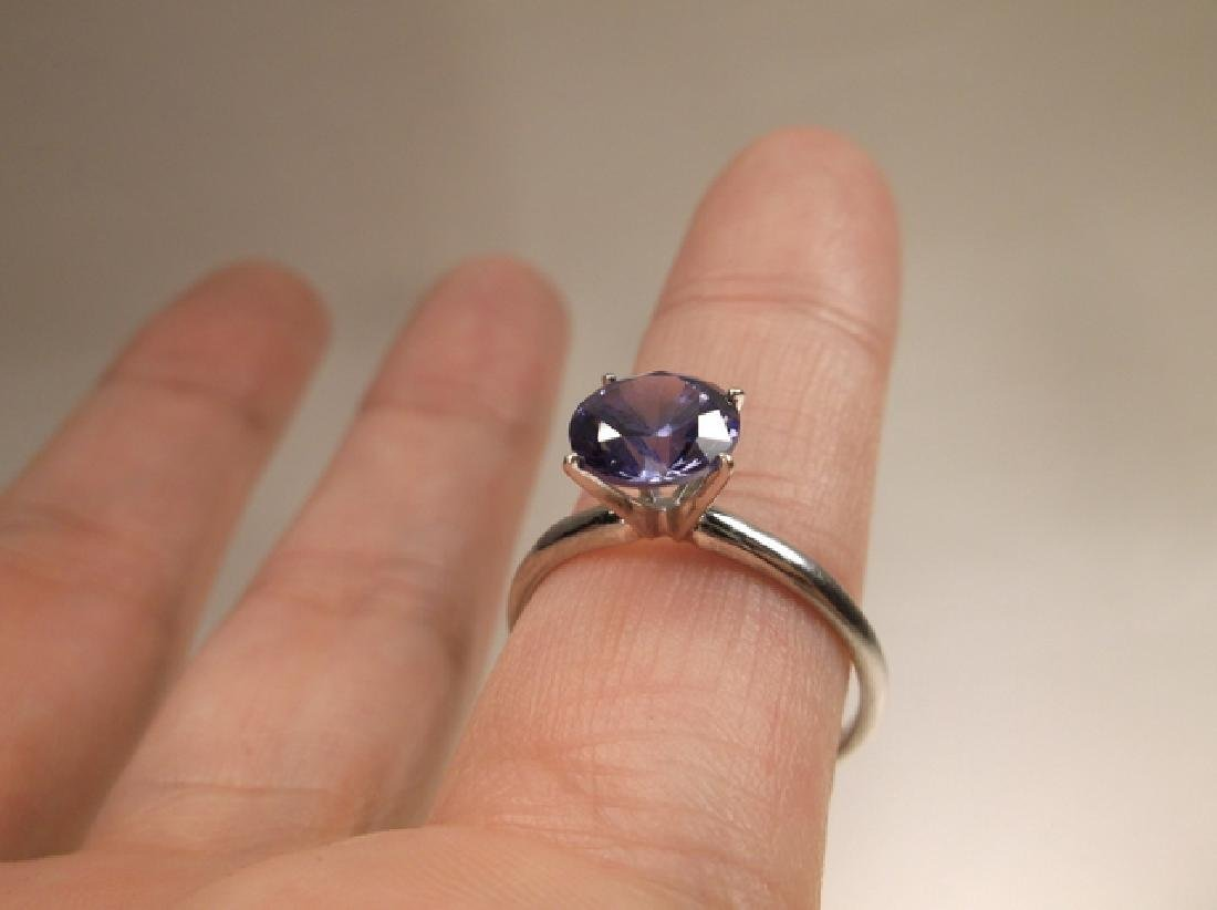 Stunning 10kt Gold Sterling Silver Tanzanite Ring Size - 6