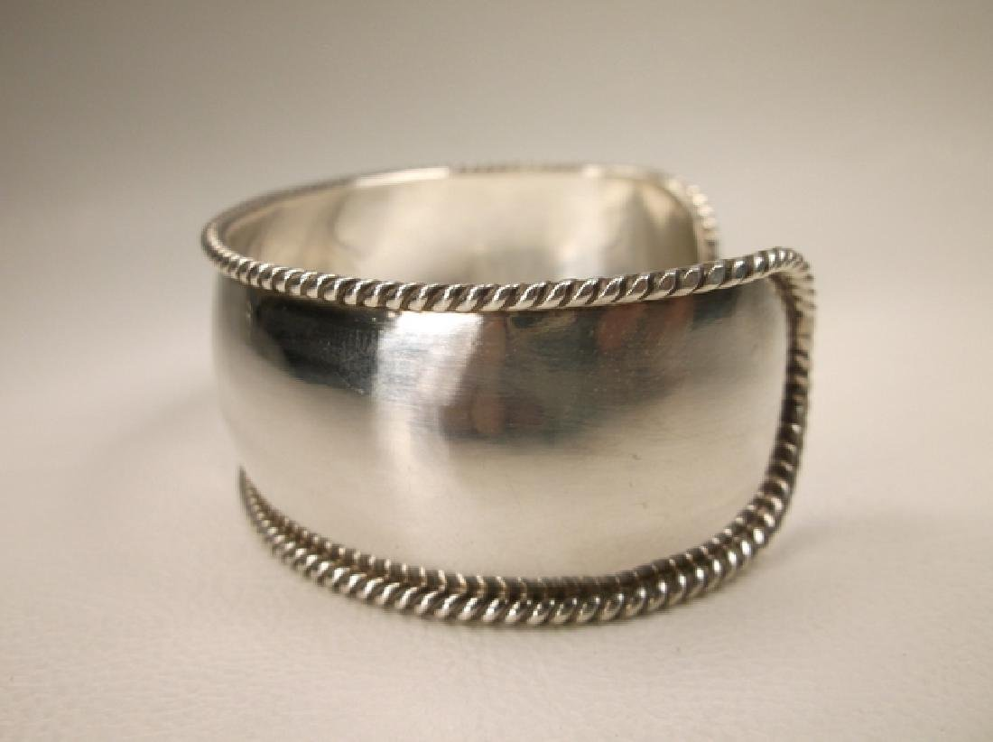 Gorgeous Heavy Sterling Silver Initial M Thick Cuff - 2