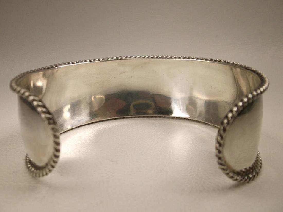 Gorgeous Heavy Sterling Silver Initial M Thick Cuff - 4