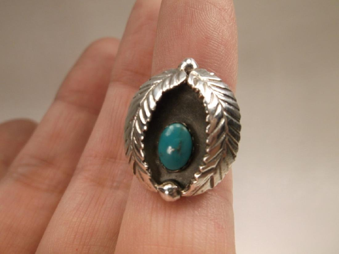 Gorg Navajo Sterling Silver Turquoise Leaf Shadowbox