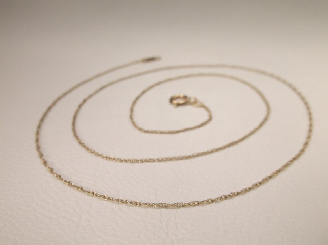 Gorgeous Vintage 10kt Gold Chain Necklace 18.5 Inch