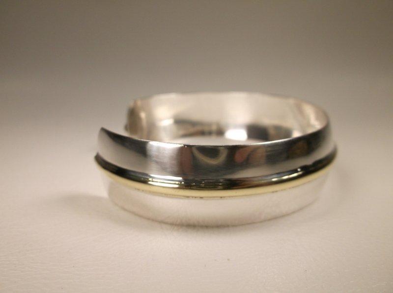 Gorgeous Vintage Sterling Silver Cuff Bracelet 925 - 4