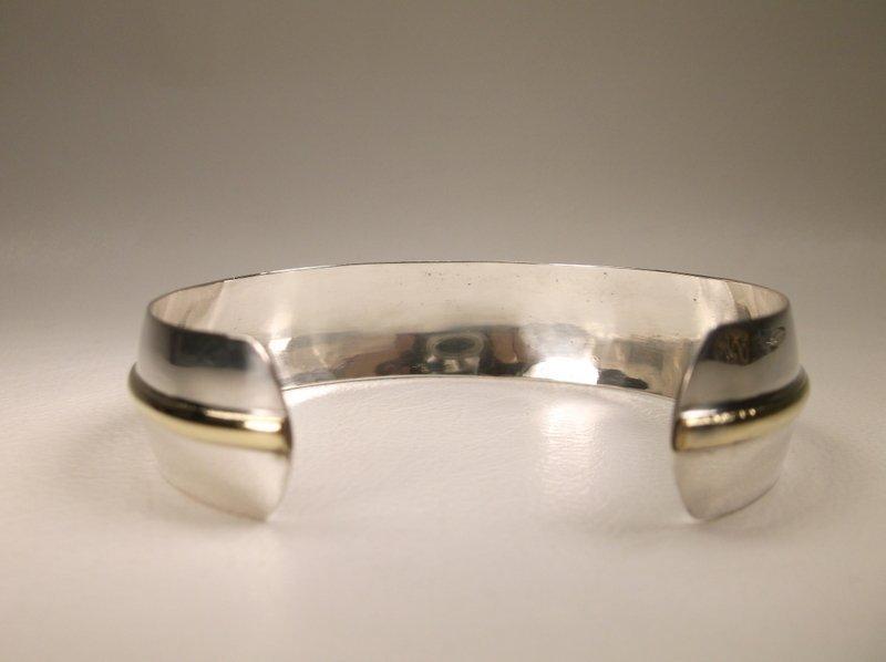 Gorgeous Vintage Sterling Silver Cuff Bracelet 925 - 5