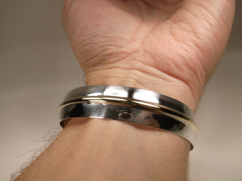 Gorgeous Vintage Sterling Silver Cuff Bracelet 925 - 6