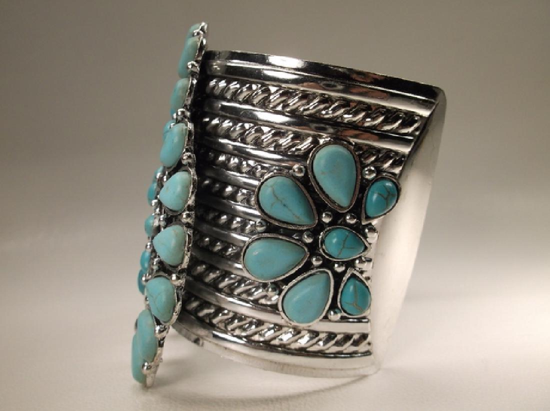 Gorgeous Huge Southwestern Cuff Bracelet 7.5 Inch - 2