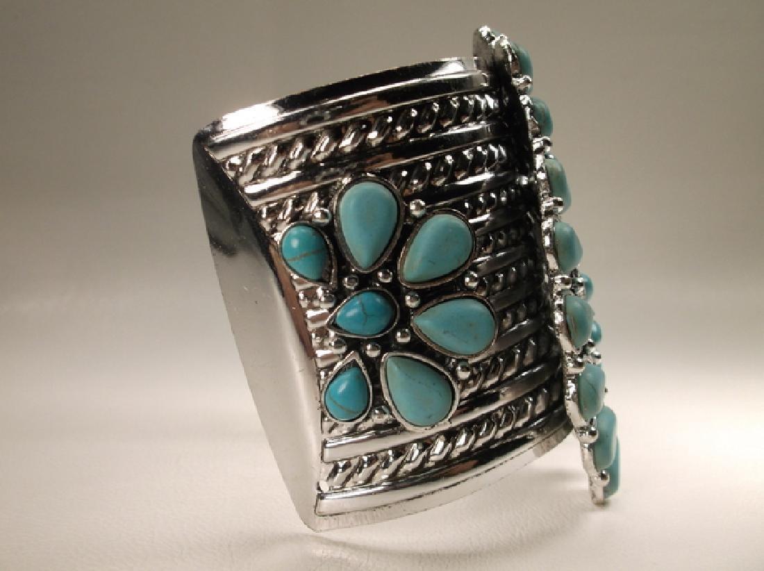 Gorgeous Huge Southwestern Cuff Bracelet 7.5 Inch - 3