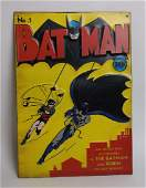 Embossed Metal Batman Comic Book Sign