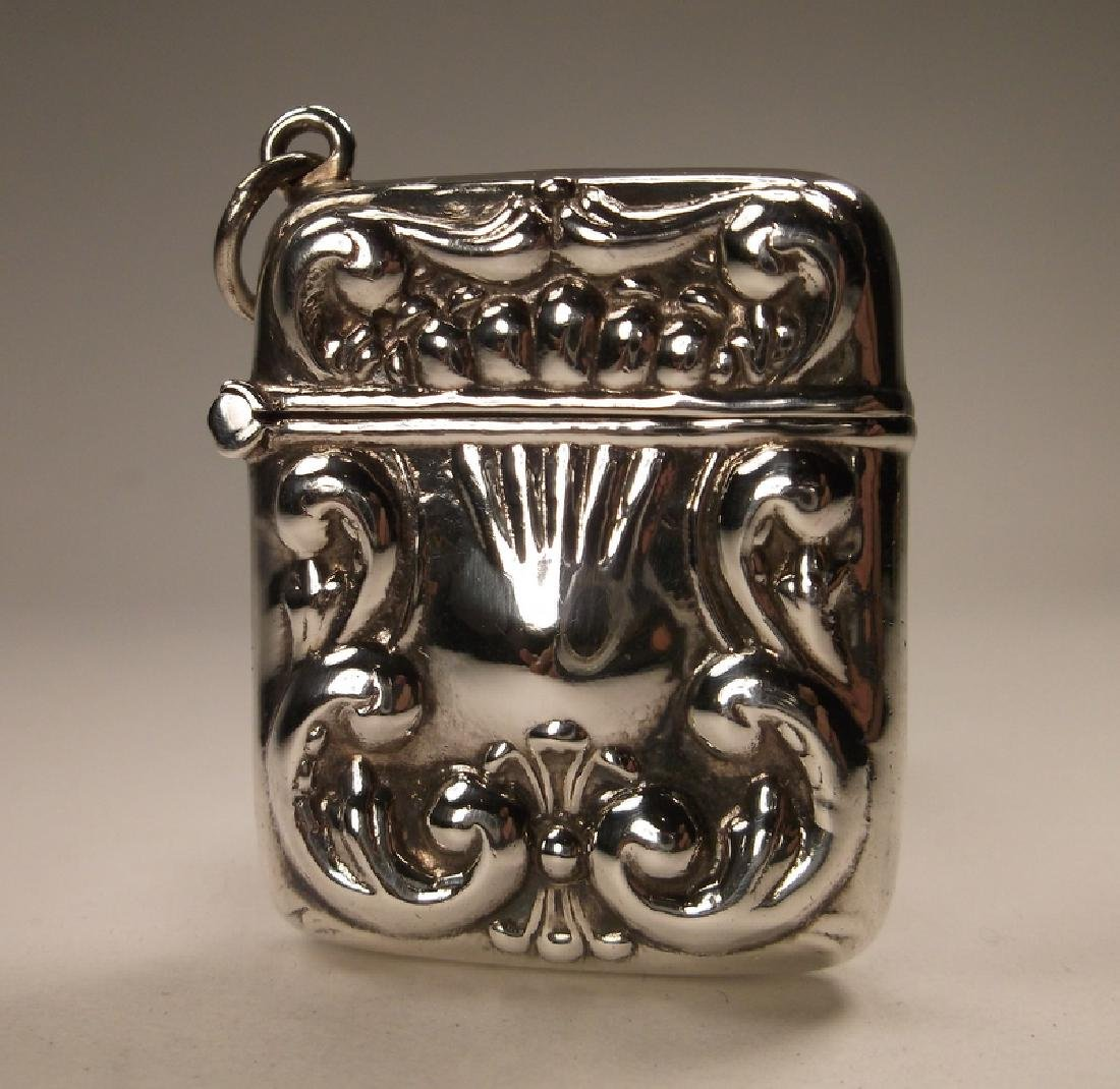 Incredible Sterling Silver Repousse Opening Container