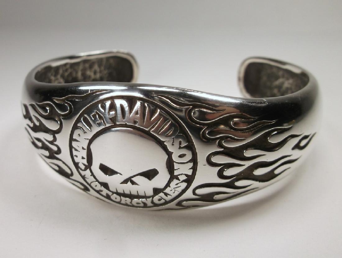 MOD Harley Davidson Sterling Willie G Cuff Bracelet