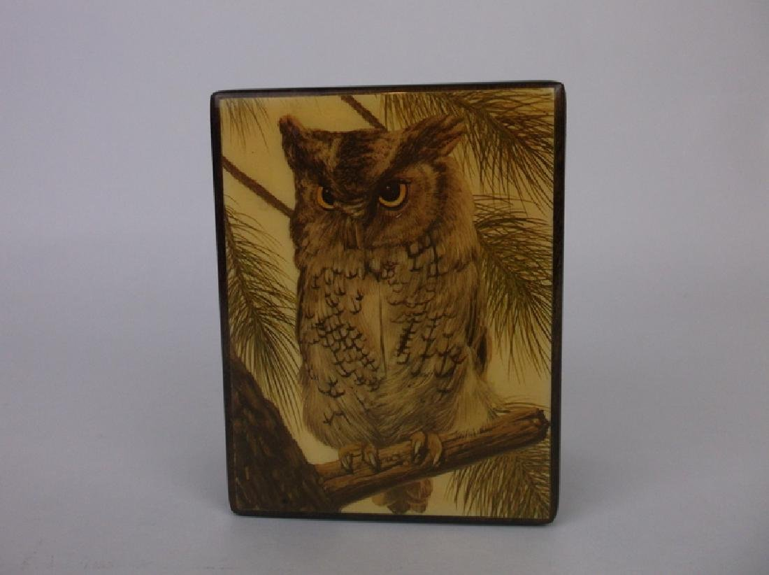 Gorgeous Reuge Owl Music Box Dovetailed