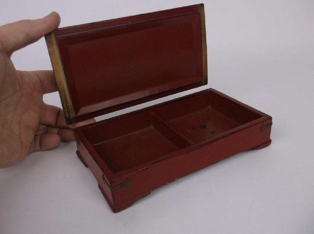 Gorgeous Antique Abalon Inlay Phoenix Bird Box - 4
