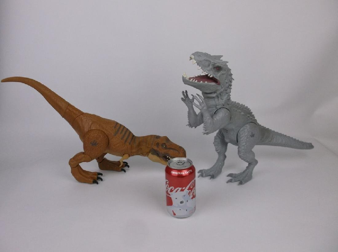 2 Large Animated Jurassic World T Rex + - 4