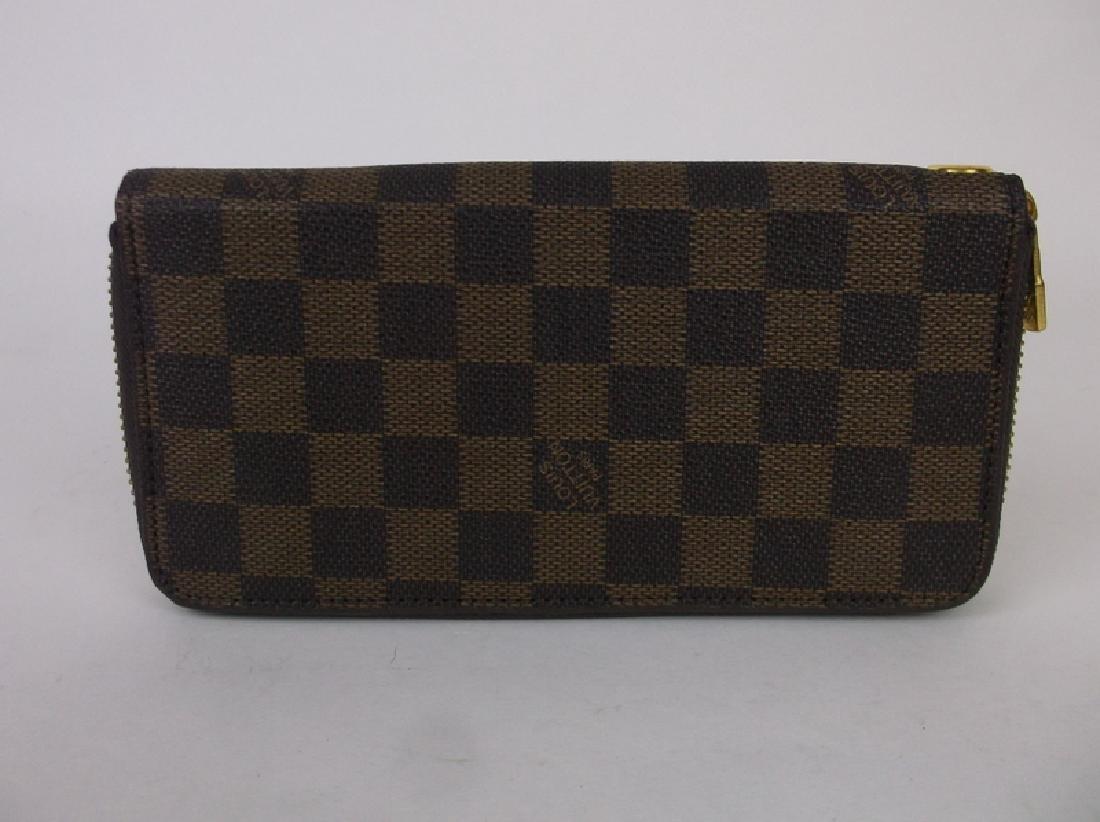 Louis Vuitton Wallet Clutch Brown Checkered