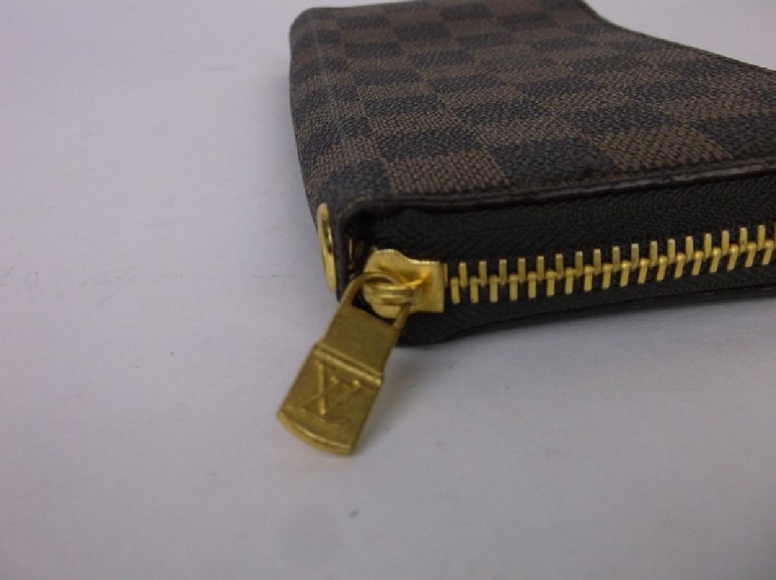 Louis Vuitton Wallet Clutch Brown Checkered - 3