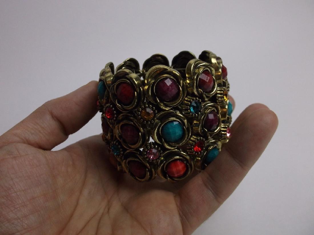 Gorgeous Large Rhinestone Bracelet - 3