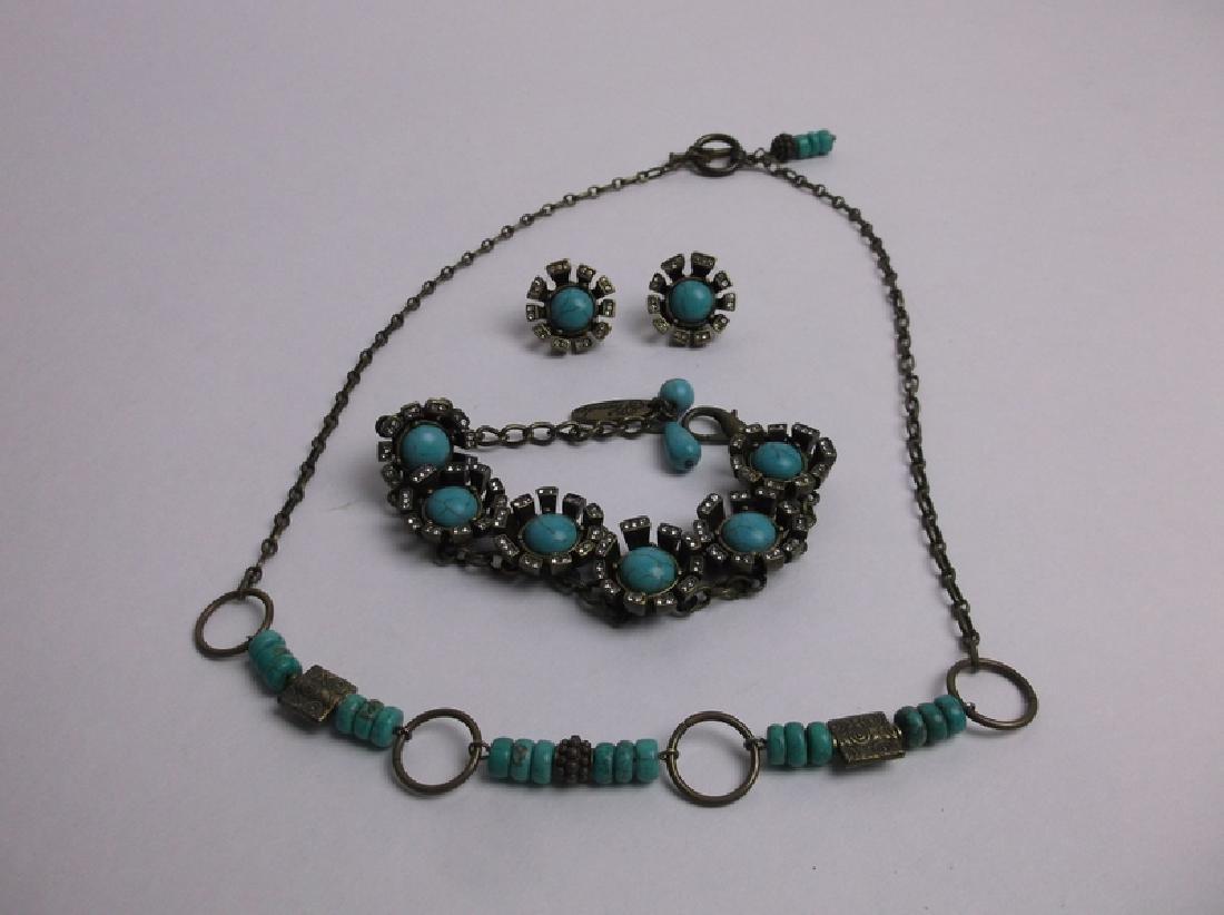 Gorgeous Southwestern Necklace Bracelet Earrings Set