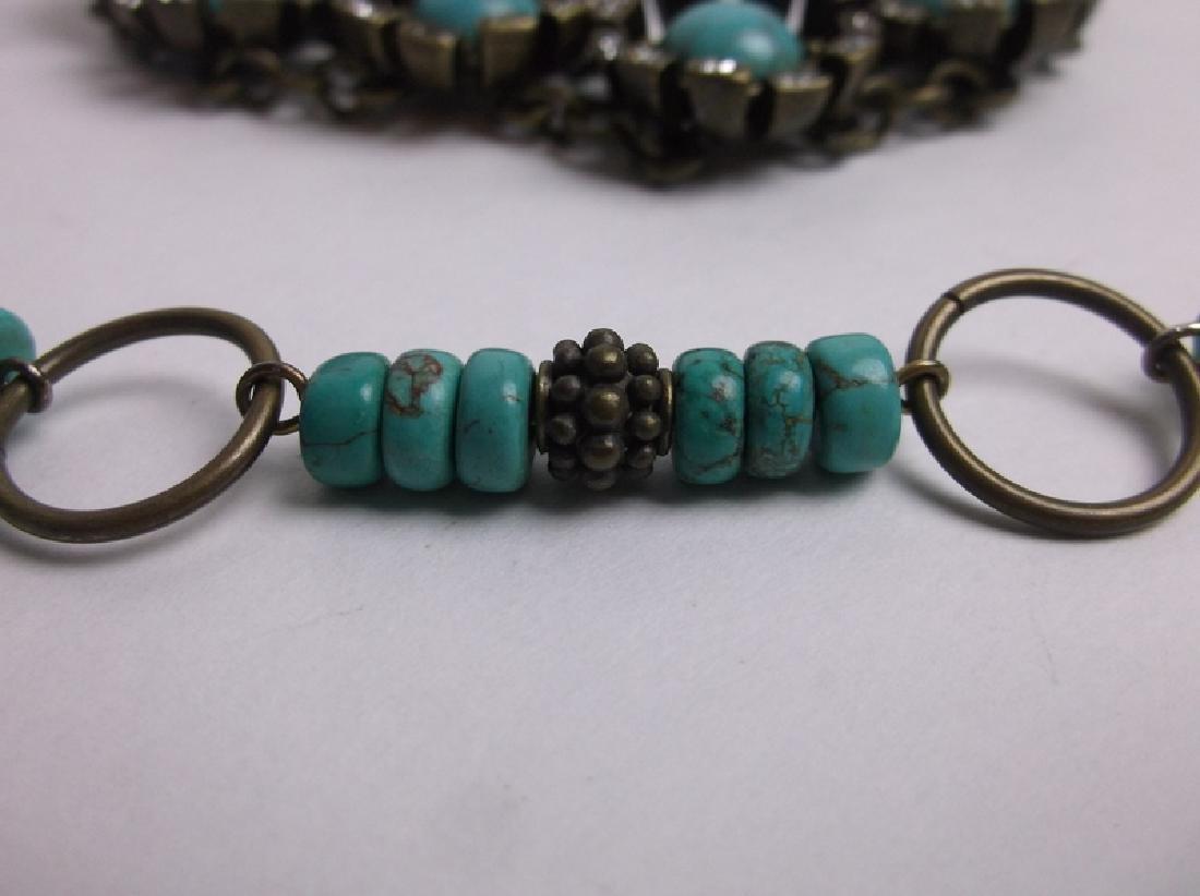 Gorgeous Southwestern Necklace Bracelet Earrings Set - 2