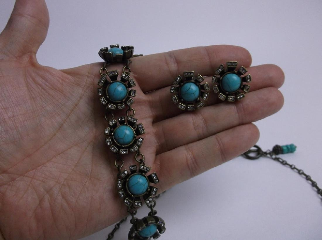 Gorgeous Southwestern Necklace Bracelet Earrings Set - 3