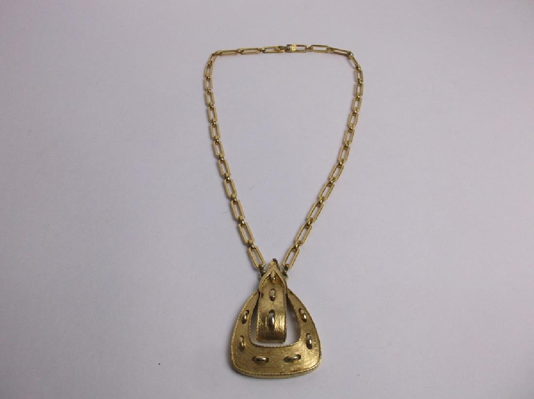 Stunning Large Monet Chain Necklace
