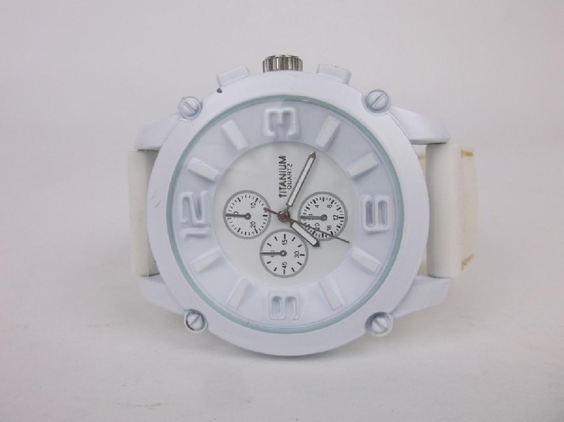 Gorgeous Huge Titanium Wristwatch Works Great
