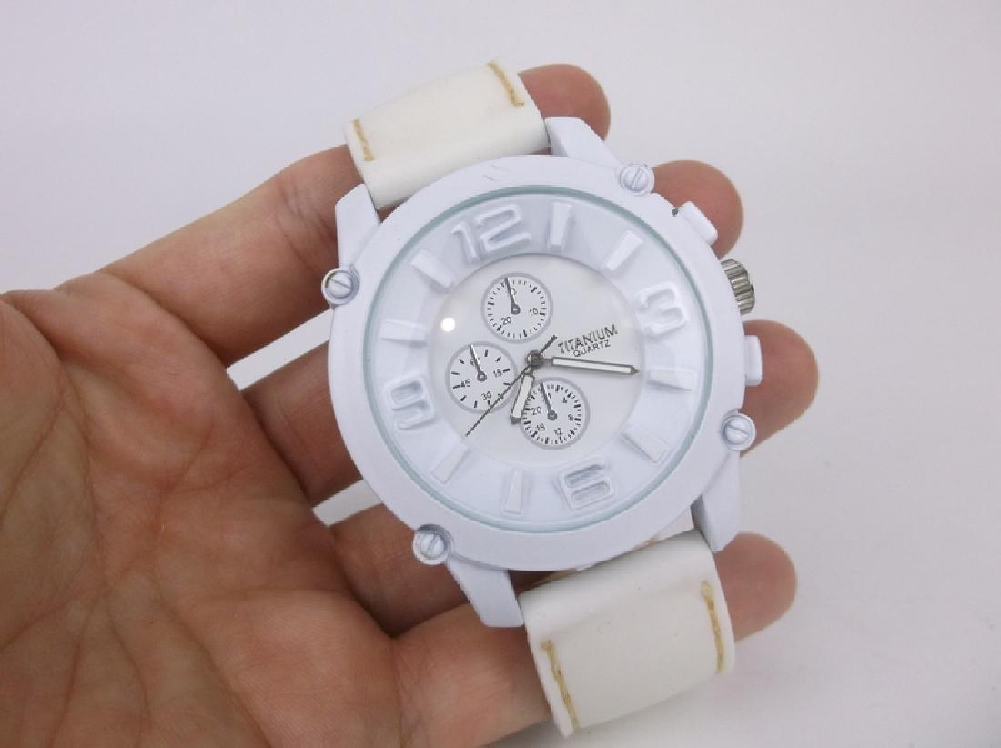 Gorgeous Huge Titanium Wristwatch Works Great - 2