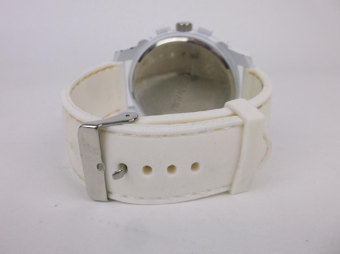 Gorgeous Huge Titanium Wristwatch Works Great - 3
