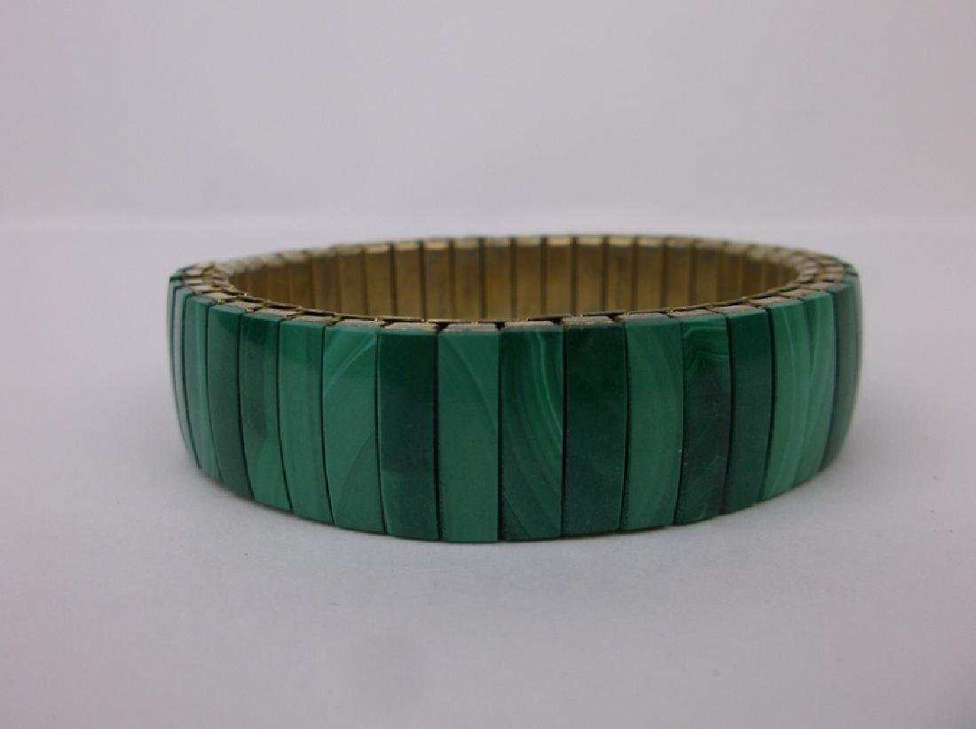 Stunning Genuine Malachite Stretch Bracelet