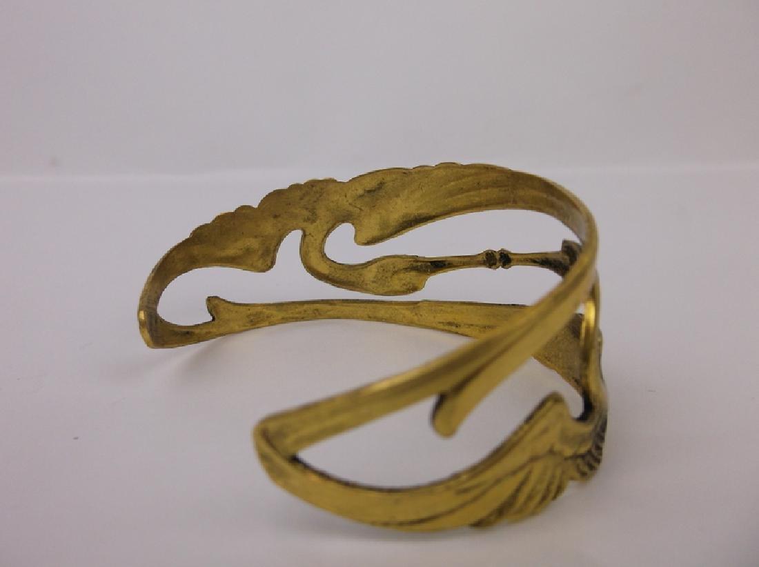 Stunning Double Crane Cuff Bracelet - 3