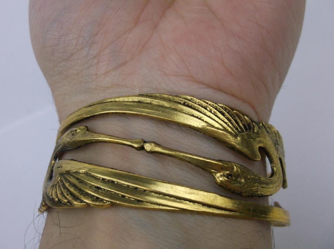 Stunning Double Crane Cuff Bracelet - 4